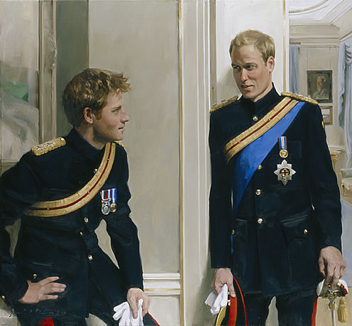 nicky philipps portrait of princes william and harry
